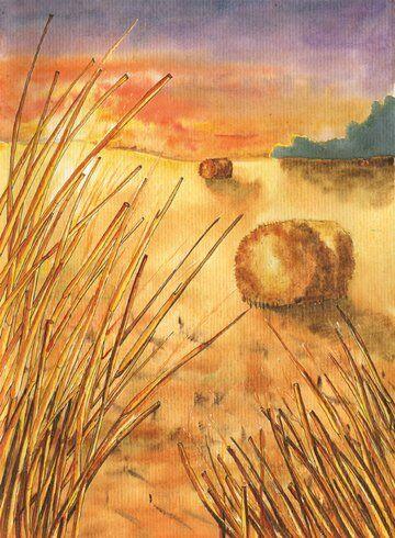 champ-été-meule-foin-helene-valentin-auteure-illustratrice-peinture-aquarelle