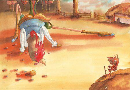 coq-poules-ferme-caramel-helene-valentin-auteure-illustratrice-peinture-aquarelle
