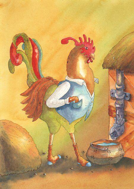coq-poules-ferme-helene-valentin-auteure-illustratrice-peinture-aquarelle