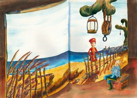fille-garçon-livre-différence-helene-valentin-auteure-illustratrice-peinture-aquarelle