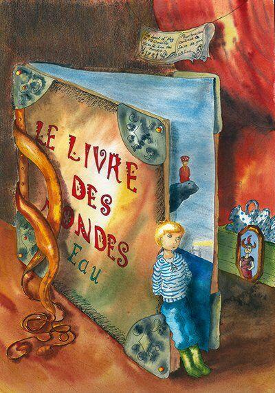 fille-garçon-livregéant-rocher-océan-différence-helene-valentin-auteure-illustratrice-peinture-aquarelle