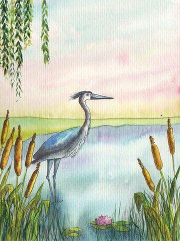 heron-etang-roseaux-helene-valentin-auteure-illustratrice-peinture-aquarelle