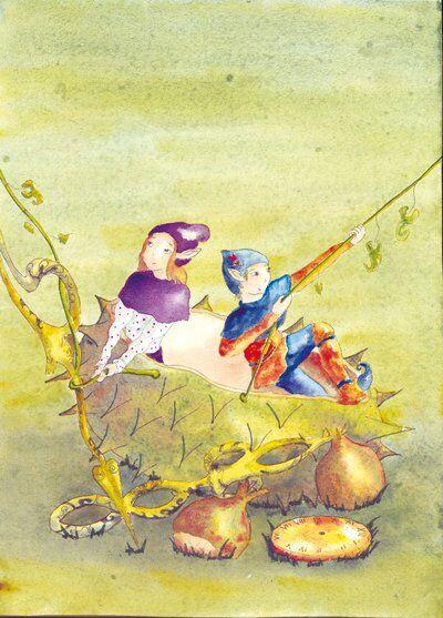 lutins-chataigne-forêt-helene-valentin-auteure-illustratrice-peinture-aquarelle