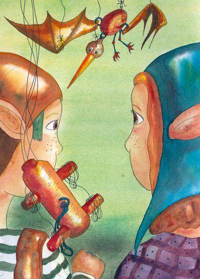 lutins-marionnette-helene-valentin-auteure-illustratrice-peinture-aquarelle