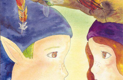 lutins-visage-regard-helene-valentin-auteure-illustratrice-peinture-aquarelle