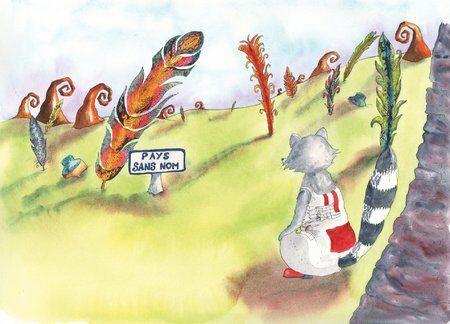 raton laveur-plume-helene-valentin-auteure-illustratrice-peinture-aquarelle