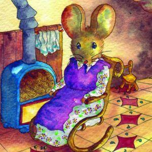 souris-chaiseabascule-cuisine-feu-aquarelle-illustration-livreenfants