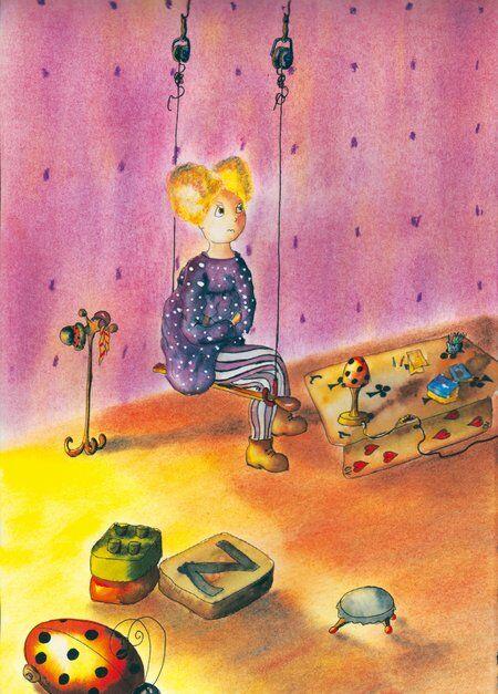 zoe-fillette-difference-bougon-neige-glace-helene-valentin-auteure-illustratrice-peinture-aquarelle