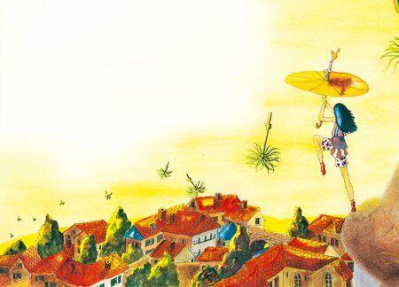 zoe-fillette-difference-été-ombrelle-soleil-helene-valentin-auteure-illustratrice-peinture-aquarelle