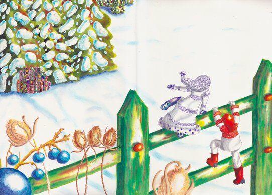 zoe-fillette-difference-kaleidoscope-neige-glace-helene-valentin-auteure-illustratrice-peinture-aquarelle