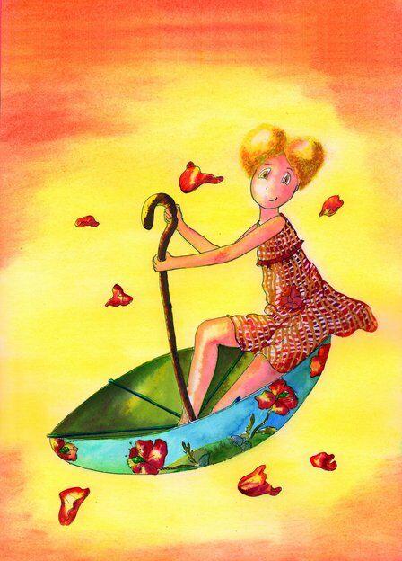 zoe-fillette-difference-ombrelle-soleil-helene-valentin-auteure-illustratrice-peinture-aquarelle
