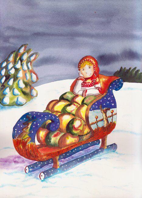 zoe-fillette-difference-traineau-neige-glace-helene-valentin-auteure-illustratrice-peinture-aquarelle