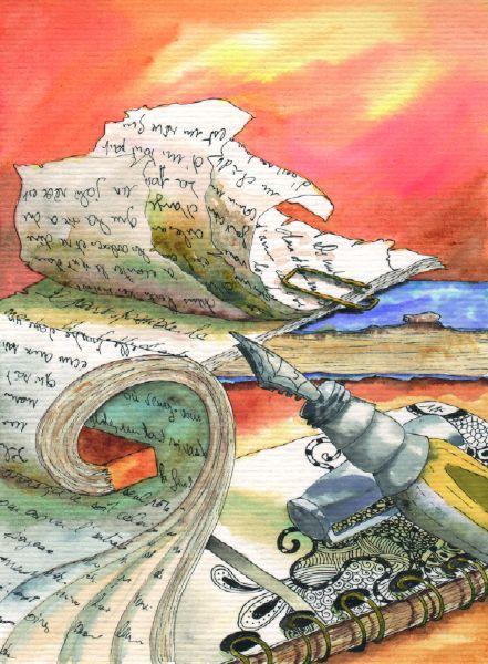 papier-carnet-styloplume-aquarelle-helene-valentin-auteure-illustratrice