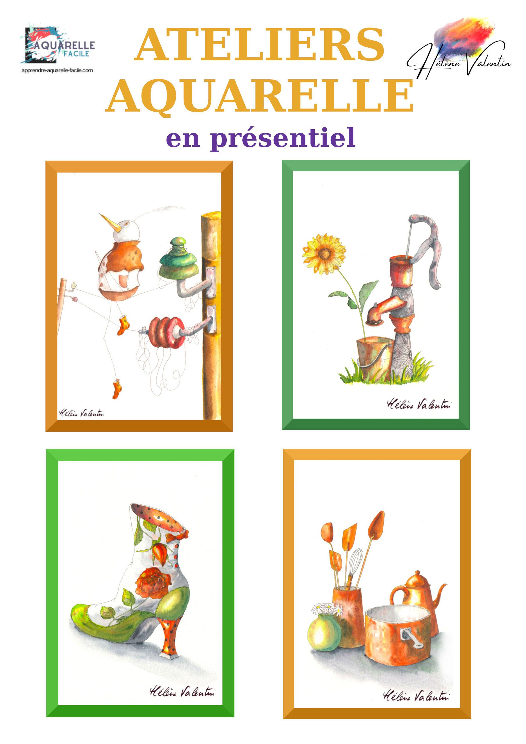 ateliers juillet 2021 - aquarelles- Hélène Valentin