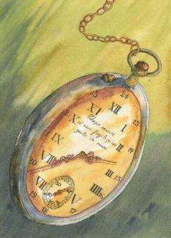 horloge-montre-temps-aiguilles-Helene-Valentin-illustratrice-peinture-aquarelle
