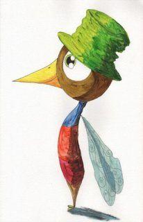 oiseau-chapeau-helene-valentin-acrylique-auteure-illustratrice-peinture-aquarelle